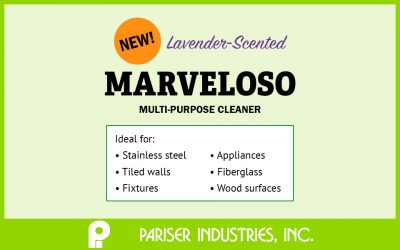 Announcing Marveloso, the newest multi-purpose cleaner from our janitorial and housekeeping line of products