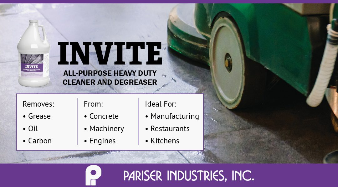 Pariser's New All-Purpose Degreasing Industrial Cleaner – INVITE