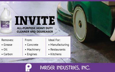 Pariser's New All-Purpose Degreasing Industrial Cleaner – INVITE