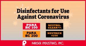 Pariser Disinfectants Against Coronavirus