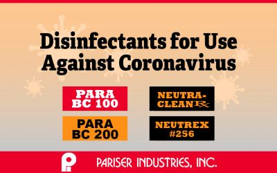 Pariser Disinfectants for SARS-CoV-2 (Coronavirus COVID-19)