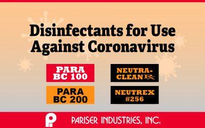 Pariser Disinfectants for SARS-CoV-2 (Coronavirus COVID-19)