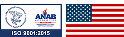 ISO 9001:2015 Logo and US Flag